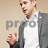 Rob Winner – rwinner@daily-chronicle.com<br /> <br /> U.S. Rep. Adam Kinzinger conducts a town hall meeting at The Lincoln Inn in DeKalb on Saturday afternoon.