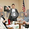 Rob Winner – rwinner@daily-chronicle.com<br /> <br /> U.S. Rep. Adam Kinzinger introduces himself to a group of local residents before conducting a town hall meeting at The Lincoln Inn in DeKalb on Saturday afternoon.