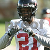 Rob Winner – rwinner@shawmedia.com<br /> <br /> Dechane Durante during the Northern Illinois football team's first practice of the spring Wednesday, March 28, in DeKalb, Ill.