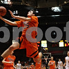 Rob Winner – rwinner@shawmedia.com<br /> <br /> DeKalb's Kyle Berg puts up a shot during the first quarter.