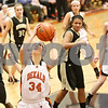 Rob Winner – rwinner@shawmedia.com<br /> <br /> DeKalb's Rachel Torres looks to shoot during the second quarter in DeKalb on Thursday, Feb. 9, 2012.