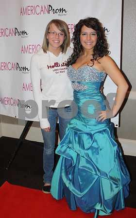 Stephanie Drendel, right, poses with her friend Jamie Meyer after a pageant. Drendel, a Genoa-Kingston High School senior, was a top-5 finisher among 16-18 year olds in Illinois and qualifed for a national pageant in Orlando, Fla.