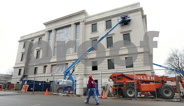 Kyle Bursaw – kbursaw@shawmedia.com<br /> <br /> Construction on the DeKalb County Courthouse expansion continues on Thursday, Feb. 2, 2012.