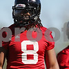 Rob Winner – rwinner@shawmedia.com<br /> <br /> Cameron Stingily during the Northern Illinois football team's first practice of the spring Wednesday, March 28, in DeKalb, Ill.