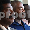 Kyle Bursaw – kbursaw@shawmedia.com<br /> <br /> From left, North Avenue Baptist Pastor J.E. Burch, Rock Christian Church Pastor Jerry Wright and New Hope Missionary Baptist Co-Pastor Joseph Mitchell will be bringing their congregations together for a Good Friday service.<br /> <br /> Taken at New Hope Missionary Baptist on Wednesday, April 4, 2012.