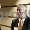 Rob Winner – rwinner@shawmedia.com<br /> <br /> Don Manzullo (right), who is running for the 16th Congressional Seat in Illinois, speaks with Paul Taylor after the DeKalb County Economic Development Corporation luncheon on Monday, Jan. 30, in DeKalb.<br /> <br /> DeKalb, Ill.<br /> Monday, Jan. 30, 2012