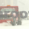 Kyle Bursaw – kbursaw@shawmedia.com<br /> <br /> A plow clears snow on Gilbert Way in in DeKalb, Ill. on Friday, Jan. 20, 2012.