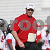 Rob Winner – rwinner@shawmedia.com<br /> <br /> Dave Doeren during the Northern Illinois football team's first practice of the spring Wednesday, March 28, in DeKalb, Ill.