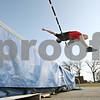 Rob Winner – rwinner@shawmedia.com<br /> <br /> Hinckley-Big Rock's Billy Weissinger practices the high jump in Big Rock on Friday afternoon.
