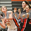 Rob Winner – rwinner@shawmedia.com<br /> <br /> DeKalb's Emily Bemis (22) looks to shoot in the fourth quarter during the Class 4A DeKalb Regional final on Thursday, Feb. 16, 2012. DeKalb defeated Huntley, 55-40.