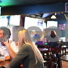 Kyle Bursaw – kbursaw@shawmedia.com<br /> <br /> Casey Hollensteiner and Cara Hollmer, of Kalamazoo, watch some of the NCAA tournament games at Fatty's Pub and Grille in DeKalb, Ill. on Friday, March 16, 2012. The two were on their way to Iowa to see Hollmer's parents.