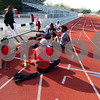 Kyle Bursaw – kbursaw@shawmedia.com<br /> <br /> Northern Illinois' director of track & field Connie Teaberry talks to some of her team as they stretch out at the end of practice on Wednesday, March 21, 2012.