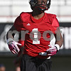 Rob Winner – rwinner@shawmedia.com<br /> <br /> Martel Moore during the Northern Illinois football team's first practice of the spring Wednesday, March 28, in DeKalb, Ill.