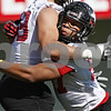 Rob Winner – rwinner@shawmedia.com<br /> <br /> Joe Windsor during the Northern Illinois football team's first practice of the spring Wednesday, March 28, in DeKalb, Ill.