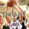 Kyle Bursaw – kbursaw@shawmedia.com<br /> <br /> Hinckley-Big Rock's Kaitlin Phillips brings in an offensive rebound in front of Indian Creek's Emma Goodrich (back right) in the second quarter of the game against Indian Creek in Earlville at the Little Ten Conference Tournament on Monday, Jan. 16, 2012. Hinckley-Big Rock defeated Indian Creek 58-23.