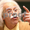 Kyle Bursaw – kbursaw@shawmedia.com<br /> <br /> Albert Einstein (portrayed by Duffy Hudson) interacts with kids at the Sycamore Library's Pi Day celebration, which coincides with Einstein's birthday, on Wednesday, March 14, 2012.