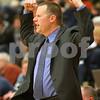Kyle Bursaw – kbursaw@shawmedia.com<br /> <br /> DeKalb coach David Rohlman reacts to a play in the third quarter of the game. Elgin defeated the Barbs 50-48 at DeKalb High School on Tuesday, Feb. 7, 2012.