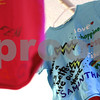 Kyle Bursaw – kbursaw@shawmedia.com<br /> <br /> Decorated shirts in the Clothesline Project hang around the room during the fourth annual Sexual Assault Survivor's Speak-Out in DeKalb on Tuesday, April 10, 2012. The project, which began in 1990, is a way for women, affect by violence, to express their feelings by decorating a shirt.