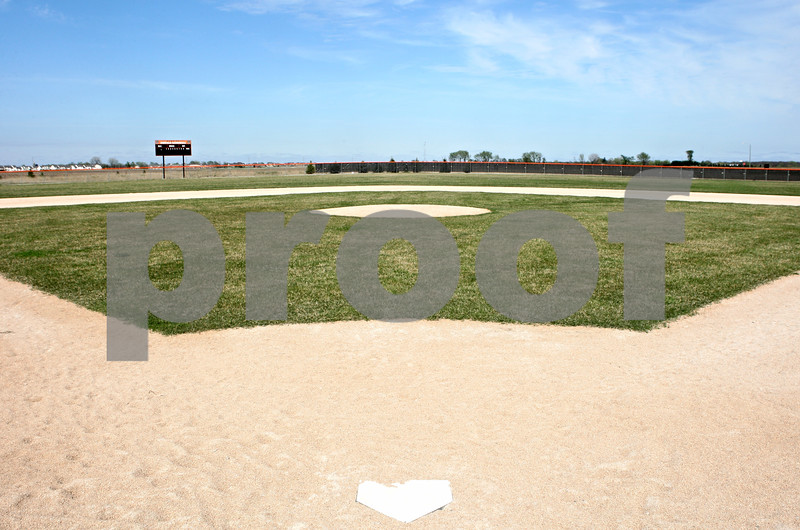 Rob Winner – rwinner@shawmedia.com<br /> <br /> A view from behind home plate on the new DeKalb baseball field as seen on Thursday, March 29. Since the beginning of the season the Barbs have had to play their games at Huntley Middle School.<br /> <br /> ***Feel free to throw text over the photo***
