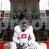 Kyle Bursaw – kbursaw@shawmedia.com<br /> <br /> Despite some difficult times while growing up Northern Illinois linebacker Jordan Delegal has become one of the Huskie's leaders both on and off the field.<br /> <br /> Taken Thursday, Dec. 22, 2011.