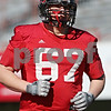 Rob Winner – rwinner@shawmedia.com<br /> <br /> Tyler Pitt during the Northern Illinois football team's first practice of the spring Wednesday, March 28, in DeKalb, Ill.