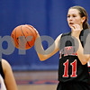 Rob Winner – rwinner@shawmedia.com<br /> <br /> Indian Creek guard Ariel Russel dribbles the ball during a game at Genoa on Tuesday, Nov. 29, 2011.