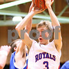 Kyle Bursaw – kbursaw@shawmedia.com<br /> <br /> Hinckley-Big Rock's Jared Madden passes in the second quarter of the championship game of the Little Ten Conference Tournament on Friday, February 3, 2012.