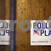 Kyle Bursaw – kbursaw@shawmedia.com<br /> <br /> A sign leads potential voters to a polling place inside the DeKalb Municipal Building annex on Monday, March 5, 2012.