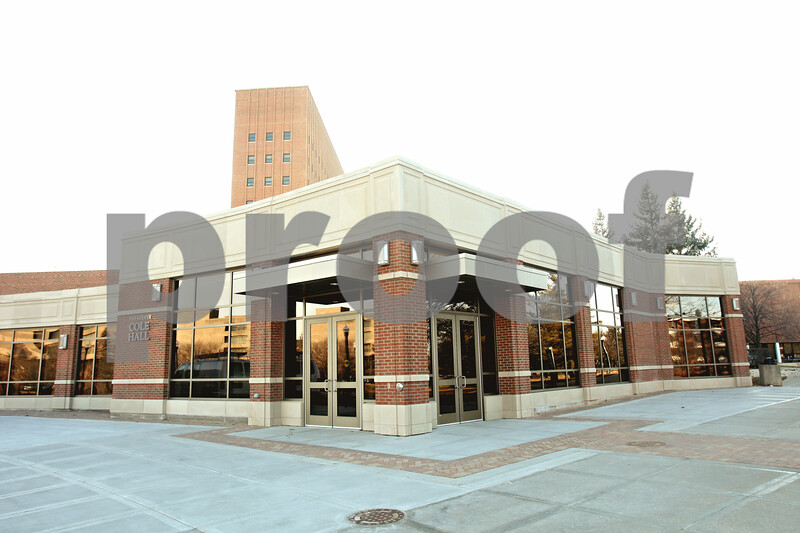Rob Winner – rwinner@shawmedia.com<br /> <br /> An outside view of Cole Hall at Northern Illinois University as seen in DeKalb on Wednesday, Jan. 11, 2012. For the first time in four years, Cole Hall will be open for the start of NIU's 2012 spring semester. <br /> <br /> **Please feel free to run text in the open areas of the image