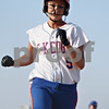 Rob Winner – rwinner@shawmedia.com<br /> <br /> Genoa-Kingston base runner Tori Hensley crosses home plate in the bottom of the second inning in Genoa on Wednesday. GK defeated Indian Creek, 16-0, in five innings.