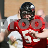 Rob Winner – rwinner@shawmedia.com<br /> <br /> Michael Gegner of the offensive line works out with teammates during the first spring practice of the Northern Illinois football team Wednesday.