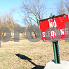 Kyle Bursaw – kbursaw@shawmedia.com<br /> <br /> This sign at Hopkins Park, seen on Tuesday, Jan. 10, 2012, isn't the only thing deterring would-be sledders. An unusually warm January hasn't provided ideal conditions for sledding or other winter pastimes.