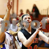 Kyle Bursaw – kbursaw@shawmedia.com<br /> <br /> Indian Creek's Rebekah Goodrich prepares to shoot as Paw Paw's Kersten Kidd defends during the second quarter of the Class 1A Indian Creek Regional Quarterfinal on Monday, Feb. 6, 2012. Indian Creek defeated Paw Paw 51-39.