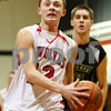 Rob Winner – rwinner@shawmedia.com<br /> <br /> After a steal, Indian Creek's Kyle Lieving goes to the basket for a layup during the first quarter in Shabbona on Tuesday night.