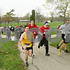 Rob Winner – rwinner@shawmedia.com<br /> <br /> Runners begin the second annual Hustle for Hearing 5K run/walk Saturday morning at Hopkins Park in DeKalb. The Student Academy of Audiology hosted the event with RAMP's Deaf and Hard-of-Hearing chosen as the beneficiary of the event.