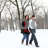 Kyle Bursaw – kbursaw@shawmedia.com<br /> <br /> Tracy and Evan Hill walk through the snow at Hopkins Park back to their vehicle on Friday, Feb. 24, 2012.<br /> The couple wed four years ago on Feb. 29 at the DeKalb County Courthouse. After their wedding they took pictures together at a similarly snowy Hopkins Park.