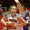 Rob Winner – rwinner@shawmedia.com<br /> <br /> Claire Jakubicek, of Northern Illinois, makes a move to get past Western Illinois' Michele Salvatori before scoring during the first half in DeKalb, Ill., on Wednesday, Nov. 16, 2011.