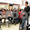 Kyle Bursaw – kbursaw@shawmedia.com<br /> <br /> Students eat, chat and move around during their lunch period at DeKalb High School on Wednesday, Jan. 25, 2012.