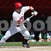 Rob Winner – rwinner@shawmedia.com<br /> <br /> Northern Illinois leadoff batter Jamison Wells attempts a bunt during the bottom of the first inning in DeKalb Friday afternoon.