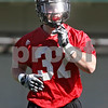 Rob Winner – rwinner@shawmedia.com<br /> <br /> Jordan Huxtable during the Northern Illinois football team's first practice of the spring Wednesday, March 28, in DeKalb, Ill.