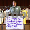 Kyle Bursaw – kbursaw@shawmedia.com<br /> <br /> Lisa Jensen, Safe Passage sexual assault program director, talks to attendees at the fourth annual Sexual Assault Survivor's Speak-Out at First Congregational United Church of Christ in DeKalb, Ill. on Tuesday, April 10, 2012.