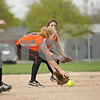 Rob Winner – rwinner@shawmedia.com<br /> <br /> DeKalb pitcher Kaylin Kennedy fields a bunt during the second inning in DeKalb on Friday. DeKalb defeated Belvidere, 5-2.