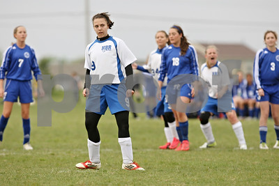 Rob Winner – rwinner@shawmedia.com  Hinckley-Big Rock's Kaitlin Phillips watches her penalty kick score late during the second half while facing Burlington Central Saturday during Barbfest in DeKalb. H-BR and Burlington Central ended their match with a 1-1 tie.