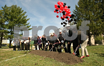 Rob Winner – rwinner@shawmedia.com  Northern Illinois University dignitaries as well as donors break ground at the site of the new Kenneth and Ellen Chessick Practice Center on the campus of NIU in DeKalb Saturday morning.