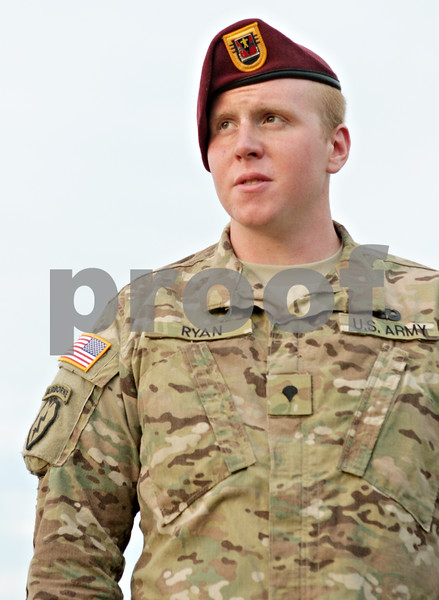 Army Spc. Tyler Ryan is welcomed home to DeKalb