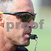 Kyle Bursaw – kbursaw@shawmedia.com<br /> <br /> Sycamore head coach Joe Ryan prepares to whistle his players to the next activity at practice on Wednesday, Aug. 8, 2012.