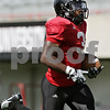 Rob Winner – rwinner@shawmedia.com<br /> <br /> Northern Illinois running back Akeem Daniels carries the ball during a drill at Huskie Stadium in DeKalb, Ill., on Friday, Aug. 10, 2012.