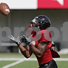 Rob Winner – rwinner@shawmedia.com<br /> <br /> Northern Illinois wide receiver Perez Ashford catches a punted ball during practice at Huskie Stadium in DeKalb, Ill., on Friday, Aug. 10, 2012.