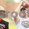 Kyle Bursaw – kbursaw@shawmedia.com<br /> <br /> Sycamore coach Randy Zeitler discusses long snapping with offensive lineman Derek Stenberg during practice on Wednesday, Aug. 8, 2012.
