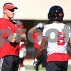 Kyle Bursaw – kbursaw@shawmedia.com<br /> <br /> Northern Illinois head coach Dave Doeren <br /> during practice at Huskie Stadium on Monday, Aug. 6, 2012